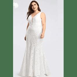Vestido Largo Ideal para Matrimonio Tallas Plus Kadrihel