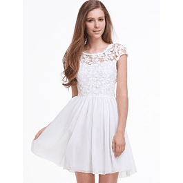 Vestido Corto Ideal para Boda Civil Tallas Plus Kadrihel