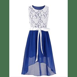 Vestido Asimétrico de Niña Para Fiesta de Gaza
