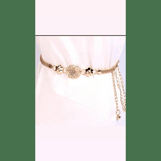 Accesorio Bello Cinturón Dorado Kadrihel