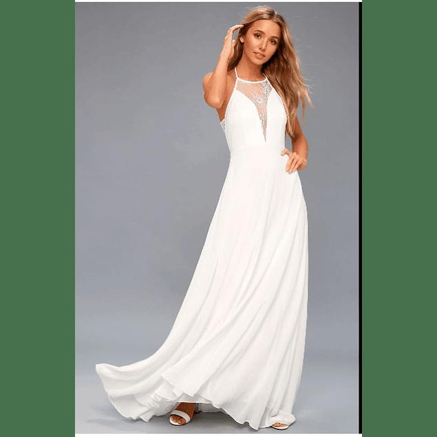 Vestido Largo Ideal Para boda Playera Tallas Plus Kadrihel.