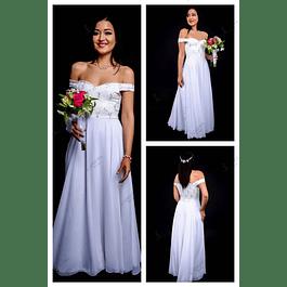 Vestido Largo Ideal Para boda  Tallas Plus Kadrihel.