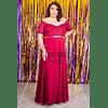 Vestido Largo Sin Hombros de Encaje Ideal para Fiesta Titulación  Tallas Plus Kadrihel