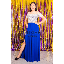 Vestido largo de Encaje ideal para fiestas.matrimonios y galas Tallas Plus Kadrihel