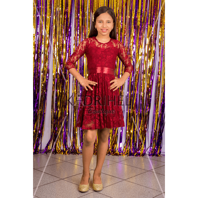 Vestido de Niña Para Fiesta de encaje