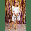 Vestido Asimétrico de Niña Para Fiesta de encaje con falda de gaza