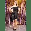 Vestido asimétrico  con encaje  Ideal para Galas Talla Plus Kadrihel