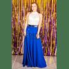 Set de maxi falda con crop top conjunto sexy vestido de fiesta kadrihel (NO INCLUYE CINTURON)