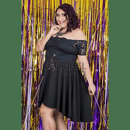 Vestido   con encaje  Ideal para Galas Talla Plus Kadrihel