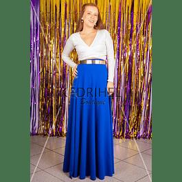 Set de maxi falda con crop top conjunto sexy vestido de fiesta kadrihel