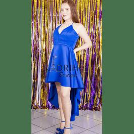 Hermoso Vestido Asimétrico Semiformal tallas Plus Kadrihel