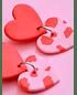 Corazones dobles rojo y rosa - thumb 2