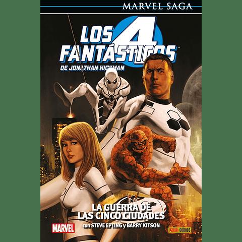 Marvel Saga Vol. 4 Los Cuatro Fantásticos: La Guerra de Las Cinco Ciudades