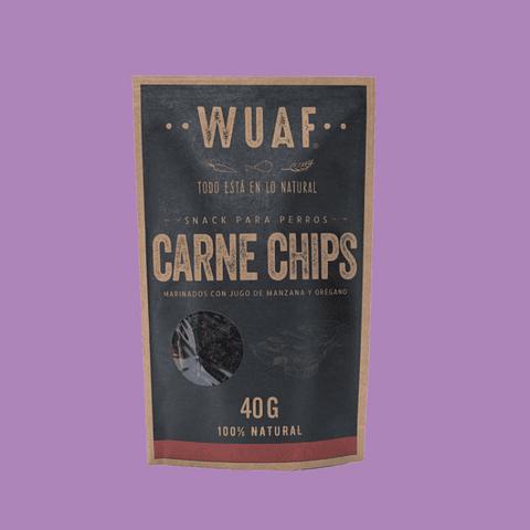 Snack Wuaf Chip Carne 40gr