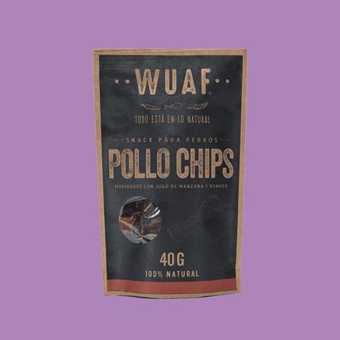 Snack Wuaf Chip Pollo 40gr