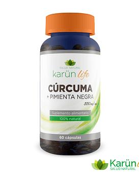 Cúrcuma + Pimienta 60 Cápsulas 550 Mg