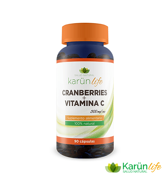 Cranberry + Vitamina C  90 Cápsulas  500 Mg