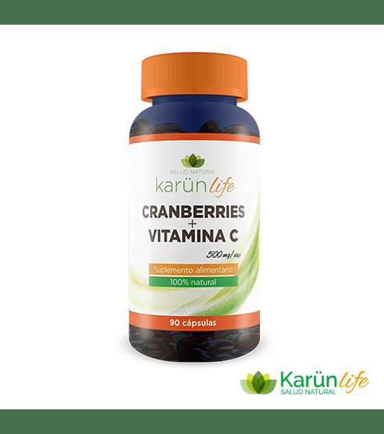 Cranberry + Vitamina C  90 Cápsulas  500 Mg