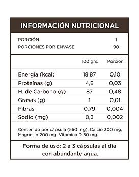 Calcio + Magnesio + Vitamina D  90 Cápsulas  550 Mg