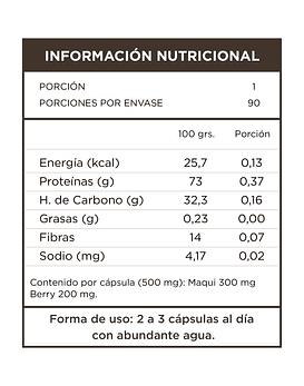 Maqui+Berry  90 Cápsulas 500mg
