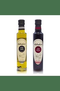 Pack regalo Aceite de oliva con aroma de trufas negras + Reduccion de Aceto balsamico trufado
