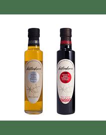 Pack Navidad: Aceite de oliva con aroma de trufas blancas (250 ml) + Reduccion de Aceto balsamico trufado (250 ml)