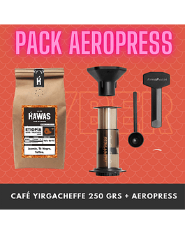PACK AEROPRESS + CAFE 250 GRS