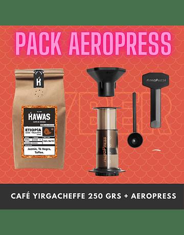 PACK AEROPRESS + CAFE 250 GRS