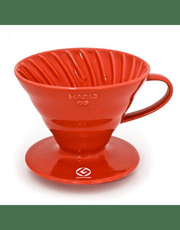 V60 Dripper Hario 01 Acrílico Rojo
