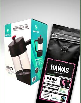 Press Pack Café 250 gr + Prensa Francesa 600 ml