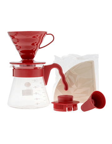 V60 Hario Server Set 02 Rojo
