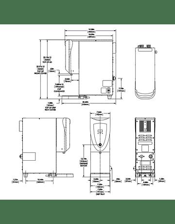 Erogador de Agua Caliente H3EA Element Acero Inox.