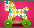 Wood toy horse