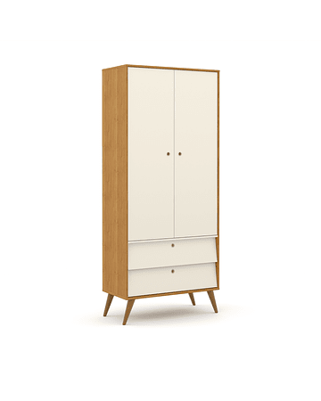 Ropero Gold 2 Pts Miel/Blanco/Eco Wood