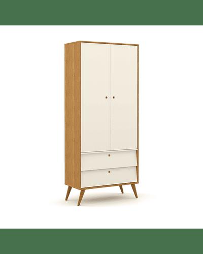 Ropero Gold 2 Pts Miel/Blanco/Eco Wood