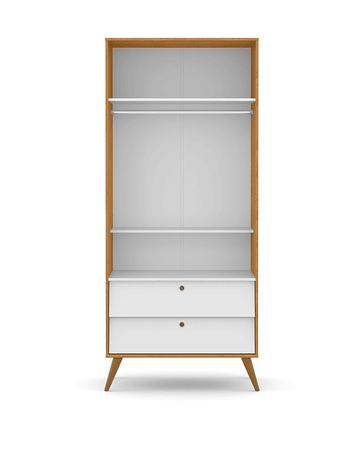 Ropero Gold 2 Pts Miel/Gris/Eco Wood