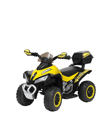 Moto Atv Amarilla Bateria