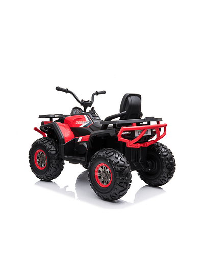 Moto Atv 2 Motores New Monster Roja