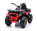 Moto Atv 2 Motores New Monster Roja