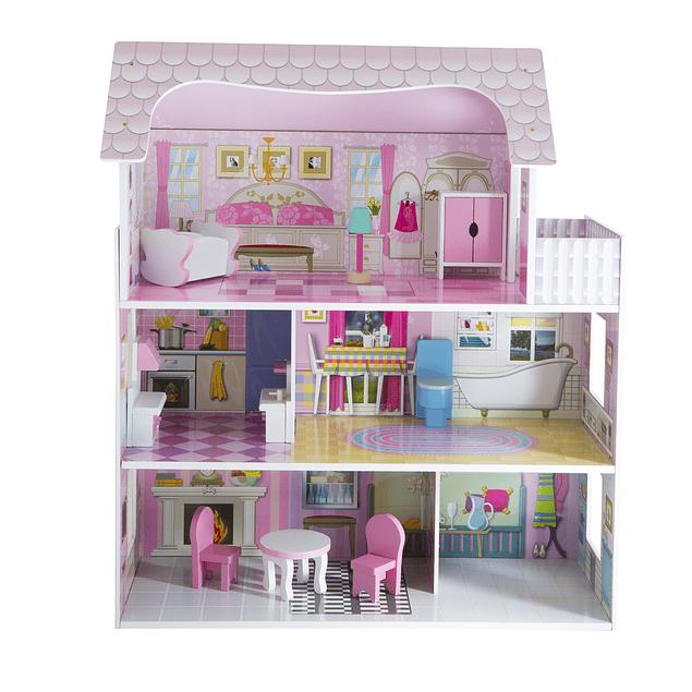 Casa de Muñeca Pequeña de Madera