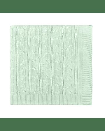 Manta Tricot Tejido De Punto 100 X 70 Cm Verde