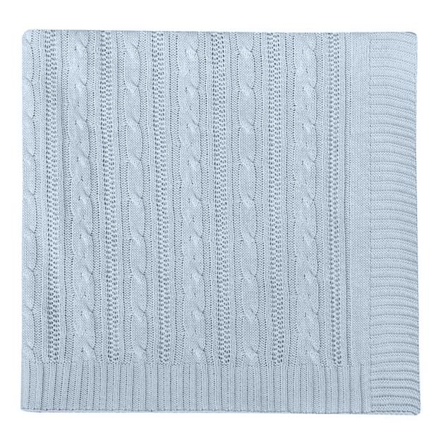 Manta Tricot Tejido De Punto 100 X 70 Cm Azul