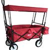 Carrito Wagon Plegable Rojo Con Techo