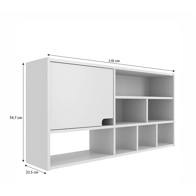 Modulo Organizador C/Puerta Compaq Blanco