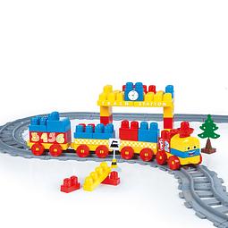 Blocks Set De Tren 89 Pcs