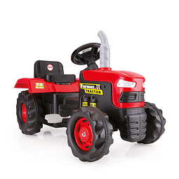 Tractor A Pedales Farmer Rojo