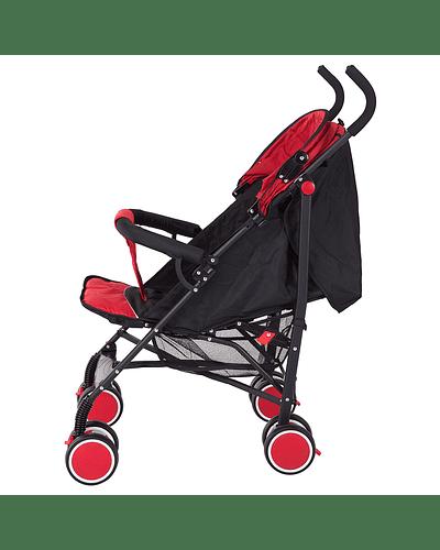 Coche Paragua 5 Posiciones Rojo Negro
