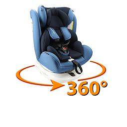 Silla de auto 360° Azul