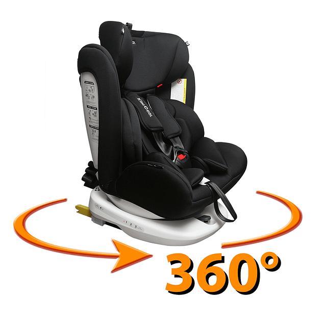 Silla de auto 360° Negro
