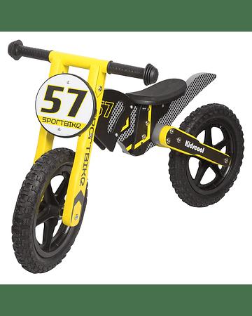 Bicicleta Madera tipo Moto Amarllo